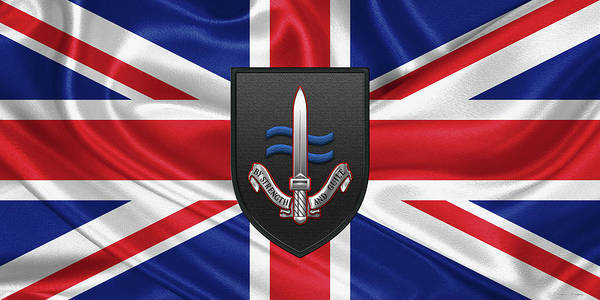 Digital Art - Special Boat Service -  S B S  Patch Over British Flag by Serge Averbukh