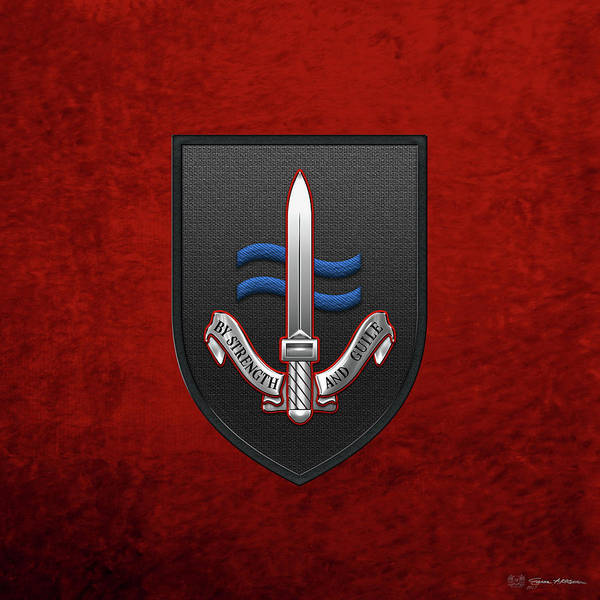 Digital Art - Special Boat Service -  S B S  Patch Over Red Velvet by Serge Averbukh