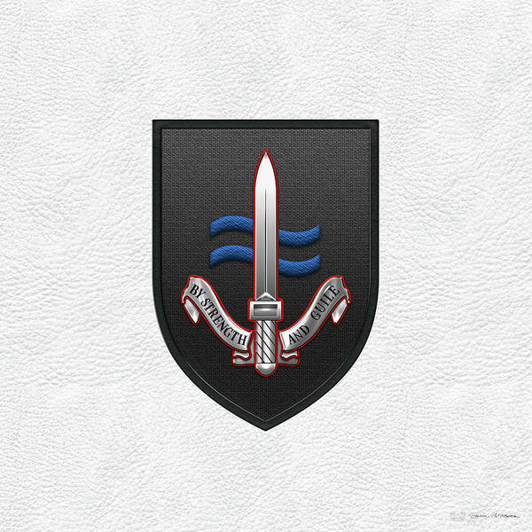Digital Art - Special Boat Service -  S B S  Patch Over White Leather by Serge Averbukh