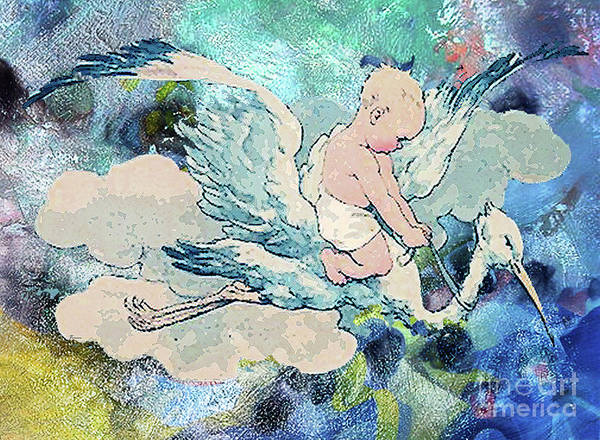 Pregnancy Mixed Media - Special Delivery by Tammera Malicki-Wong