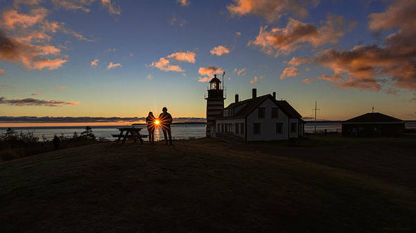 Wall Art - Photograph - Special Moment Sunrise At West Quoddy Head Lighthouse by Marty Saccone