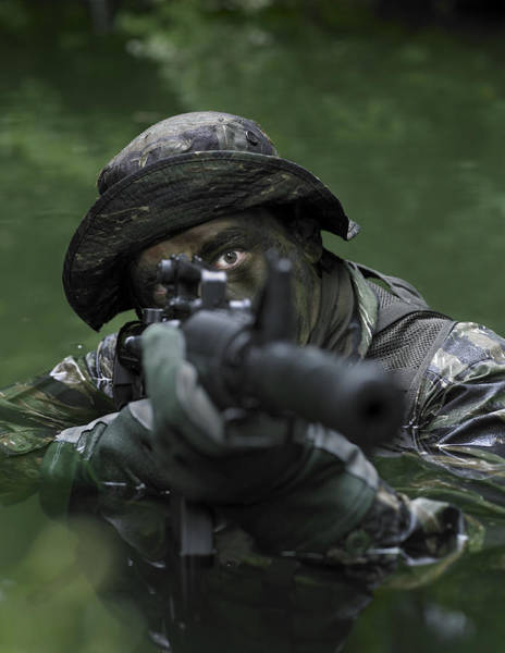 Sharpshooter Wall Art - Photograph - Special Operations Forces Soldier by Tom Weber