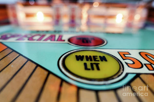 Wall Art - Photograph - Special When Lit Vintage Pinball Machine by Edward Fielding