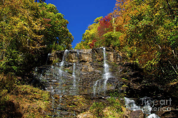 Photograph - Spectacular Fall Color At Amicalola Falls by Barbara Bowen