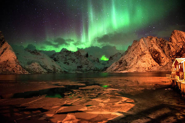 Photograph - Spectacular Night In Lofoten 1 by Dubi Roman