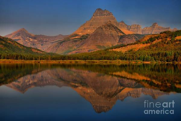 Mt. Adams Photograph - Spectacular Swiftcurrent Lake Sunrise by Adam Jewell