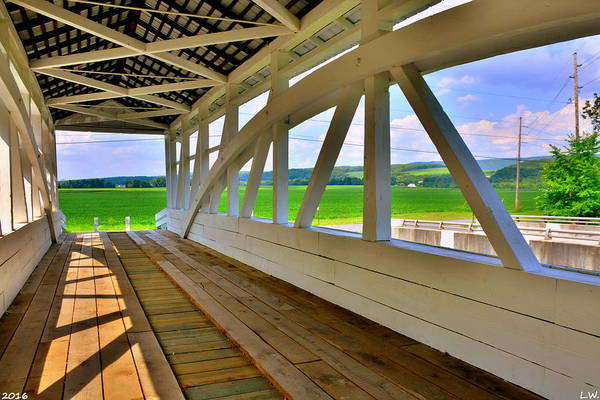 Photograph - Spectacular View From Osterburg-bowser Covered Bridge by Lisa Wooten