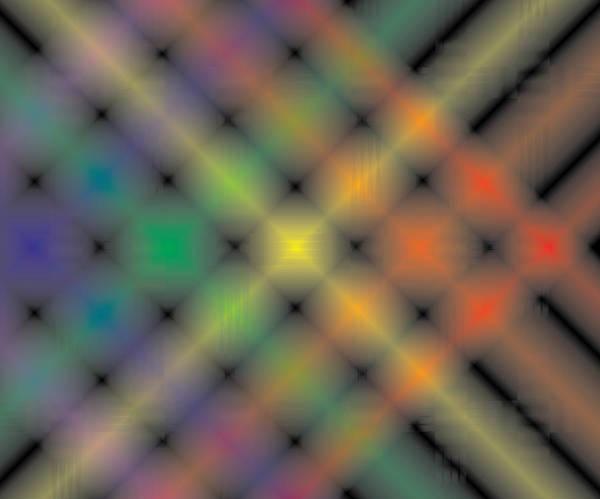 Spectral Shimmer Weave Art Print