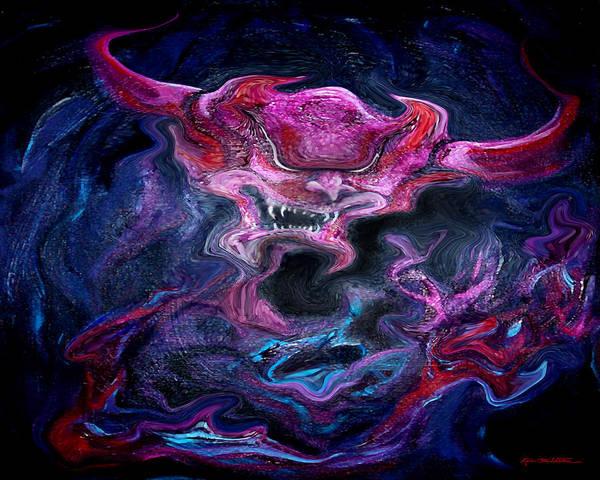 Digital Art - Spectrum Of Emotion Rage Terror by Kevin Middleton