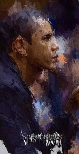 Barack Obama Painting - Speechless by Steve K