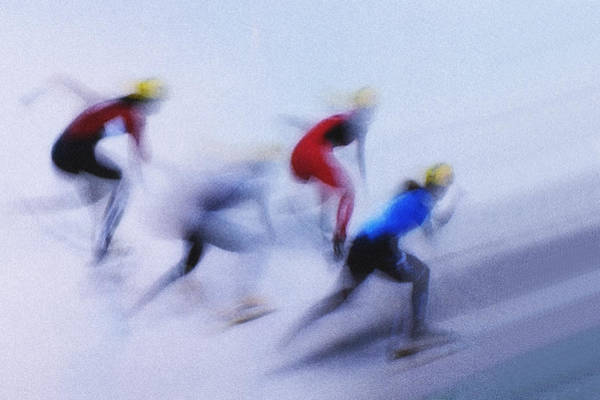 Speed Wall Art - Photograph - Speed Skating 1 by Zoran Milutinovic