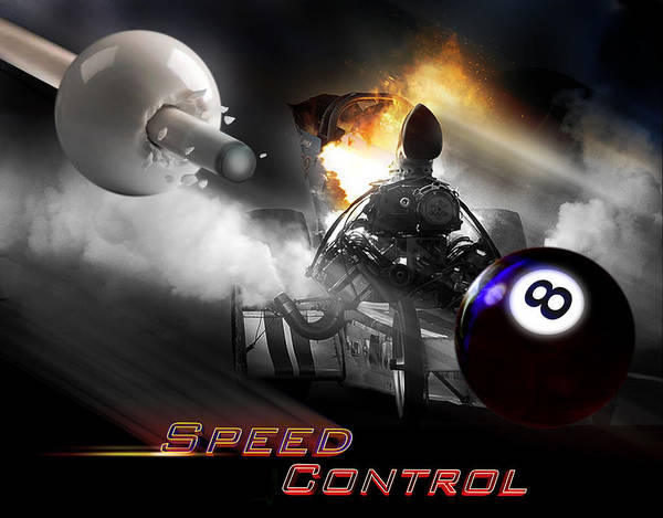 Wall Art - Digital Art - Speedcontrol by Draw Shots