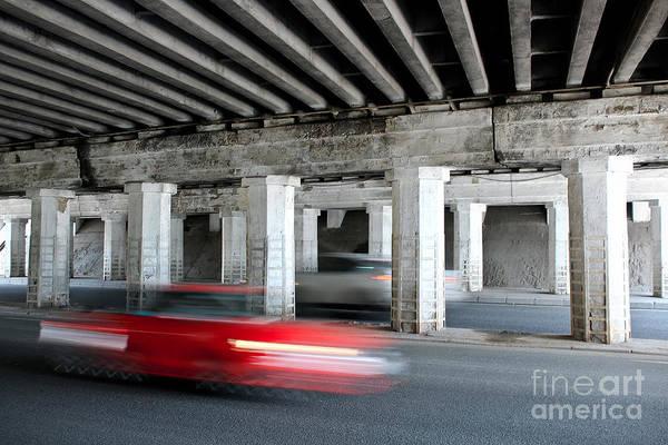 Speeding Car Art Print