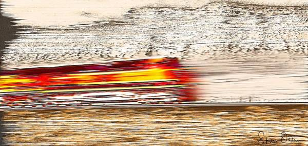 Wall Art - Digital Art - Speeding Train 1 - Signed Limited Edition by Steve Ohlsen