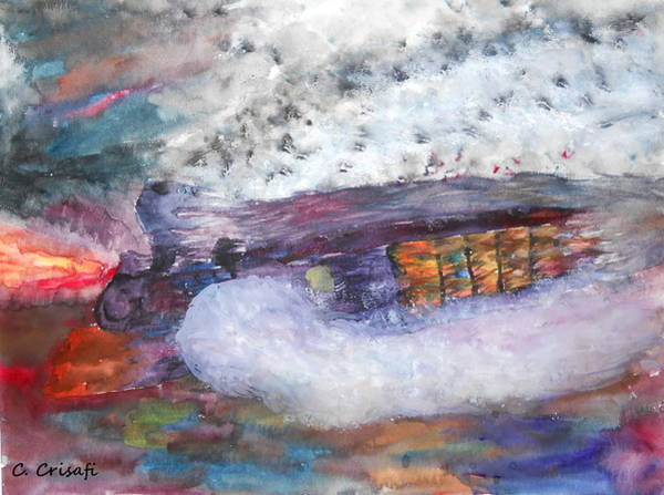 Painting - Speeding Train On Fire by Carol Crisafi