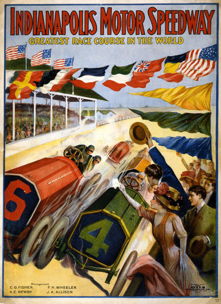 American Car Mixed Media - Speedway by Charles Shoup
