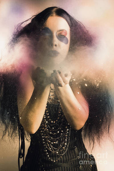 Black Magic Woman Wall Art - Photograph - Spellbound By Magic And Fantasy by Jorgo Photography - Wall Art Gallery