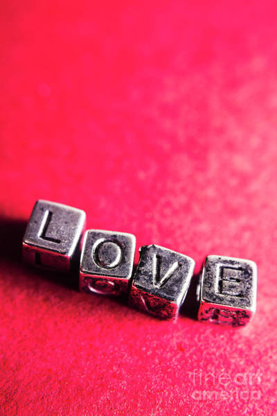 Cube Wall Art - Photograph - Spelling Out Love by Jorgo Photography - Wall Art Gallery