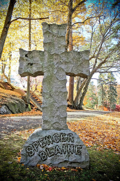 Historical Marker Photograph - Spencer Blaine Cross by Colleen Kammerer