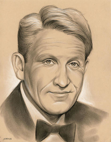 Drawing - Spencer Tracy 05dec by Greg Joens