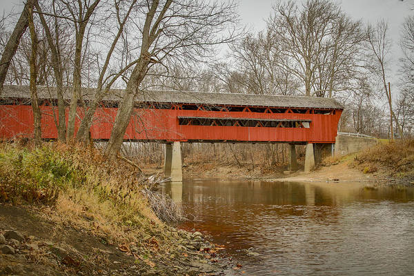 Photograph - Spencerville/coburn Covered Bridge by Jack R Perry