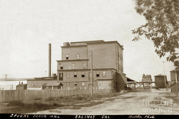 Photograph - Sperry Flour Mill. Salinas, California  Circa 1908  by California Views Archives Mr Pat Hathaway Archives