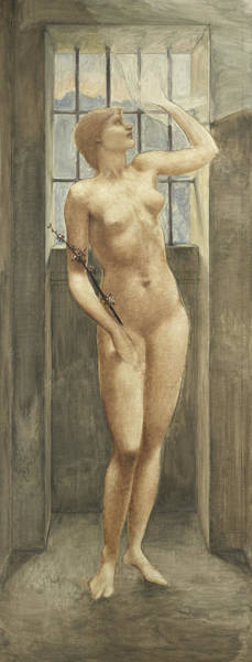 Wall Art - Painting - Spes, Or Hope In Prison by Edward Coley Burne-Jones