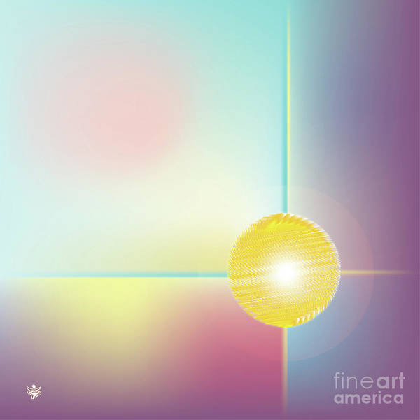 Wall Art - Digital Art - Sphera - Abstract Art Print - Fantasy - Digital Art - Sea Flower - Fine Art Print by Ron Labryzz