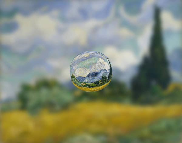 Digital Art - Sphere 7 Van Gogh by David Bridburg