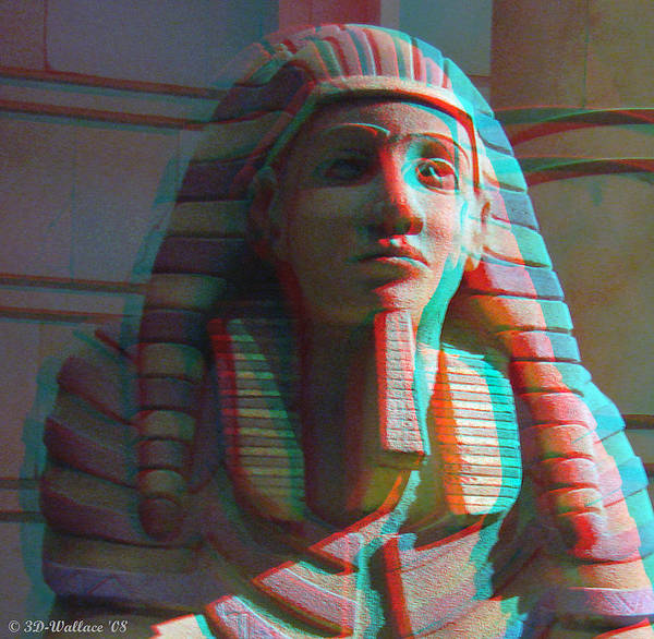 Anaglyph Photograph - Sphinx - Use Red-cyan 3d Glasses by Brian Wallace