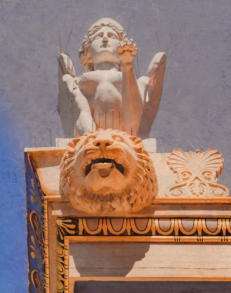 Photograph - Athens, Greece - Sphinx And Scupper by Mark Forte