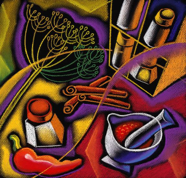 Ingredient Painting - Spice Art by Leon Zernitsky