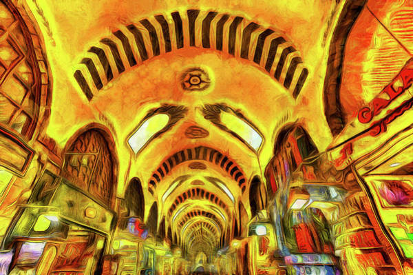 Wall Art - Photograph - Spice Bazaar Istanbul Van Gogh by David Pyatt