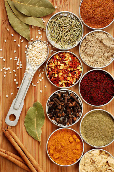 Flavours Wall Art - Photograph - Spices by HD Connelly