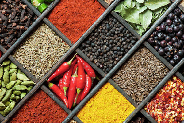 Flavours Wall Art - Photograph - Spices by Tim Gainey