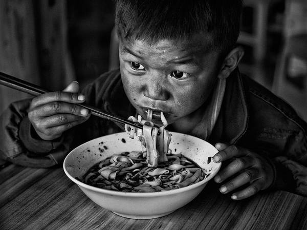 Chinese Photograph - Spicy Noodle by Bj Yang