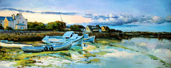 Wall Art - Painting - Spiddal Harbour by Conor McGuire