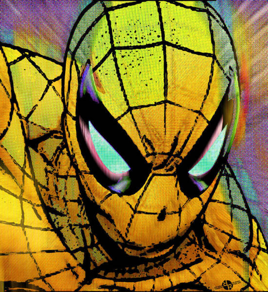 Wall Art - Painting - Spider-man Pop Gold by Tony Rubino