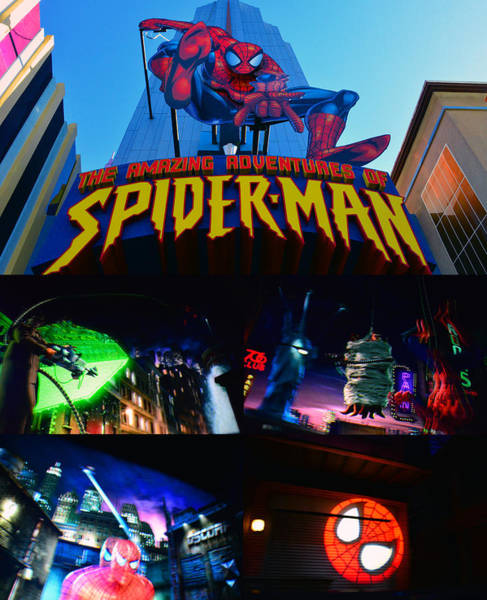 Wall Art - Photograph - Spider Man Ride Poster A by David Lee Thompson