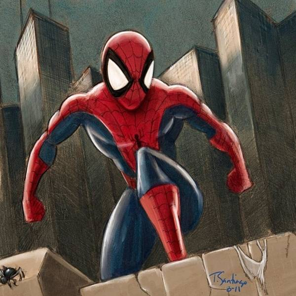 Pencil Wall Art - Photograph - Spider-man by Tony Santiago