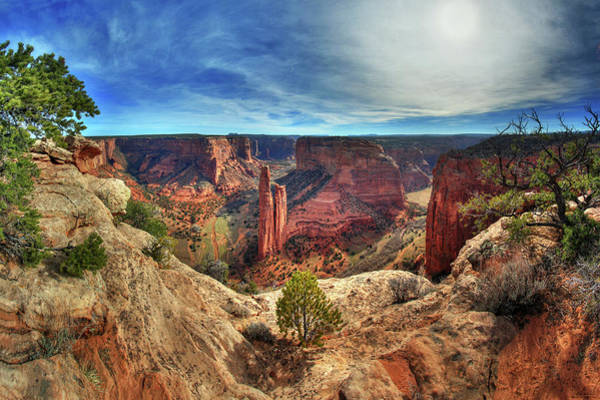 Spider Rock Photograph - Spider Rock At Canyon De Chelly National Monument by Peter Herman