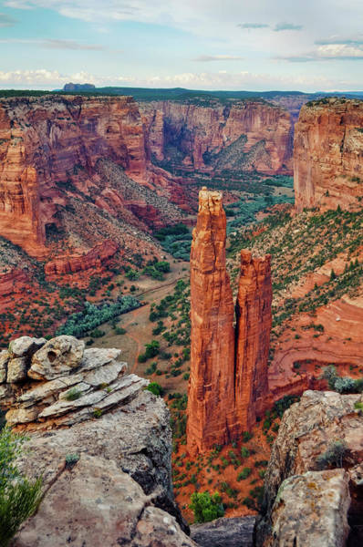 Photograph - Spider Rock Canyon De Chelly National Monument by Kyle Hanson