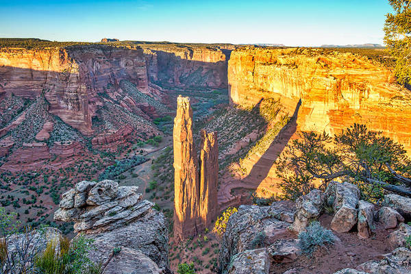 Spider Rock Photograph - Spider Rock Of Canyon De Chelly by Bee Creek Photography - Tod and Cynthia