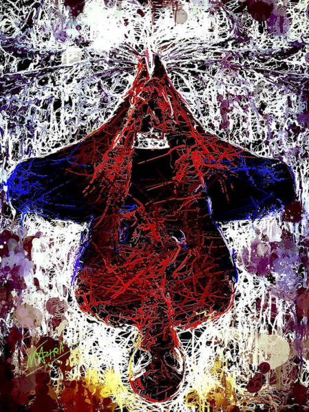 Mixed Media - Spiderman Hanging Around by Al Matra