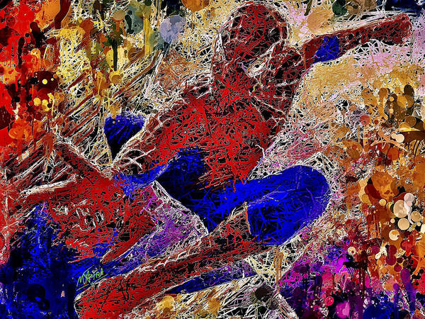 Mixed Media - Spiderman 2 by Al Matra