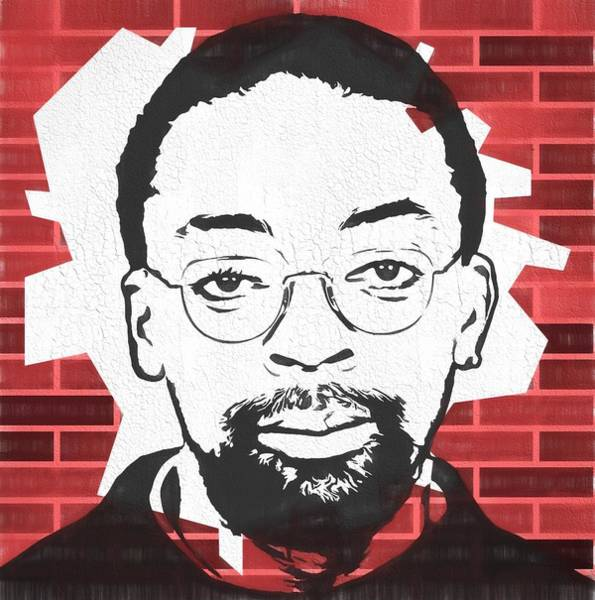 Wall Art - Painting - Spike Lee Graphic Tribute by Dan Sproul