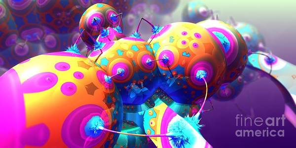 Digital Art - Spiked Balloonacy by Jon Munson II