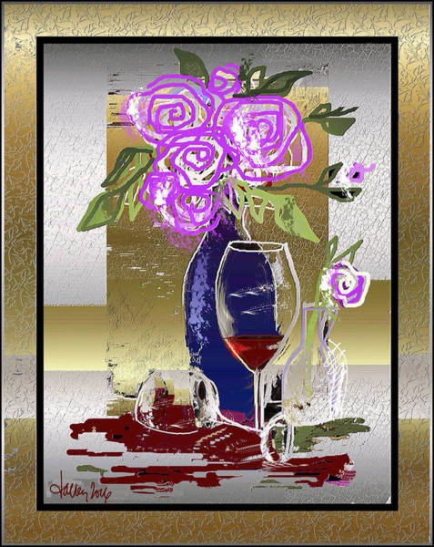 Digital Art - Spilled Wine by Larry Talley