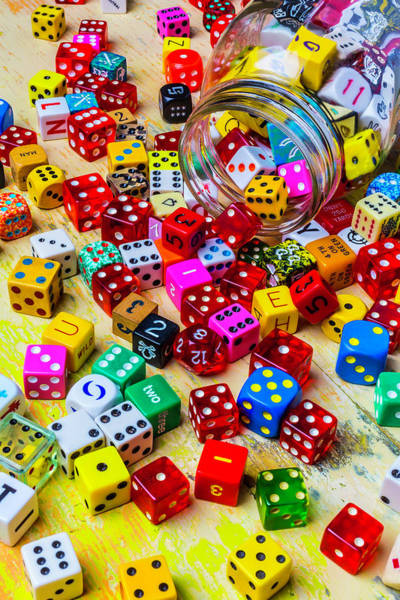 Wall Art - Photograph - Spilling Dice by Garry Gay