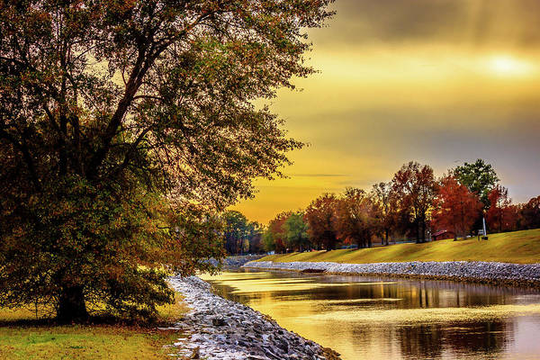 Photograph - Spillway Canal - Scenic Landscape by Barry Jones